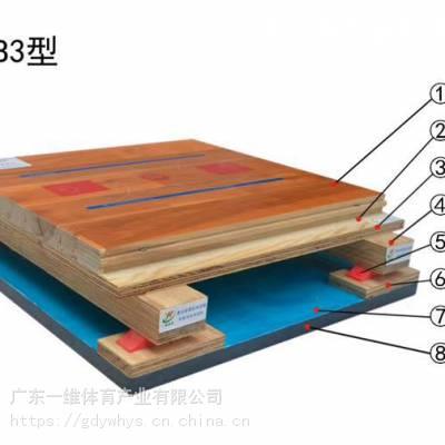 三级枫桦木单龙骨运动木地板篮球馆羽毛球馆乒乓球馆木地板环保材质