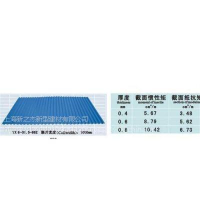 建筑墙面板系列YX8-31.5-882型 波浪彩钢板_上海新之杰压型钢板厂