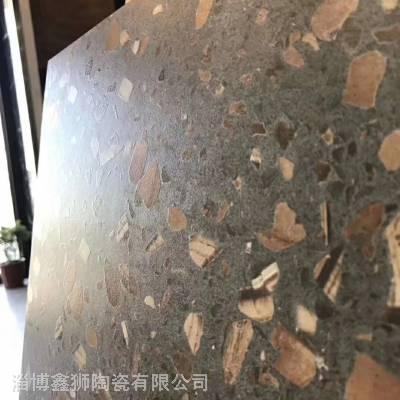 水磨石瓷砖厂家 大型商业街 写字楼 商场 连锁酒店专用仿水磨石瓷砖 地面砖