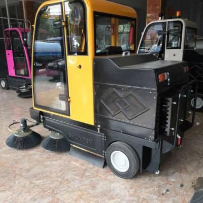 路霸小型电动扫地车 驾驶式扫路车 鸿哲 带驾驶室电动扫路车