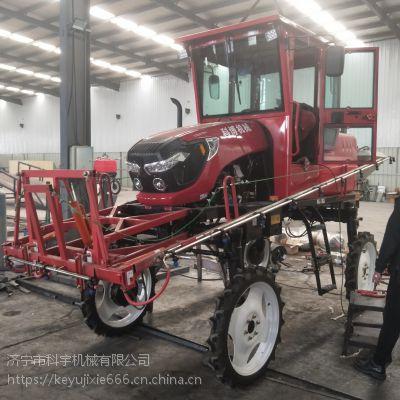 科宇农田新款打药机 四驱转向打药机 水稻型号水田喷药机