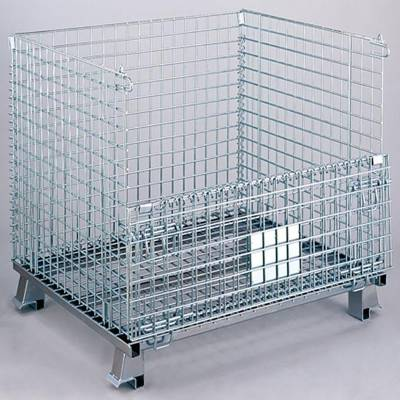 金属收纳框 折叠式蝴蝶笼 折叠式不锈钢筐 仓储笼