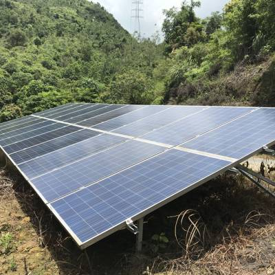 山区酒店40KW太阳能发电系统粤兴YX-45KW光伏离网发电系统