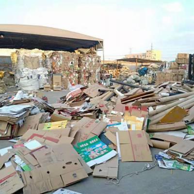 上海大量高价工厂废纸板箱废纸板回收