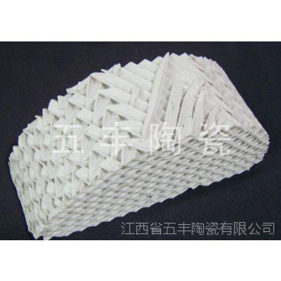五丰陶瓷供应瓷质波纹规整填料