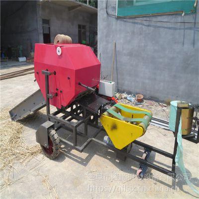 养殖场冬季草料储存打捆包膜机 玉米秸秆打捆机 牧草青储打包机