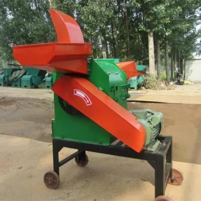 家用小型高喷式粉草机 家禽饲养铡草粉碎机 青贮鲜牧草粉碎机