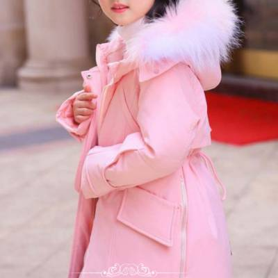 广州巴啦服饰品牌童装折扣2019年冬装外套毛领羽绒服(童话星羽)