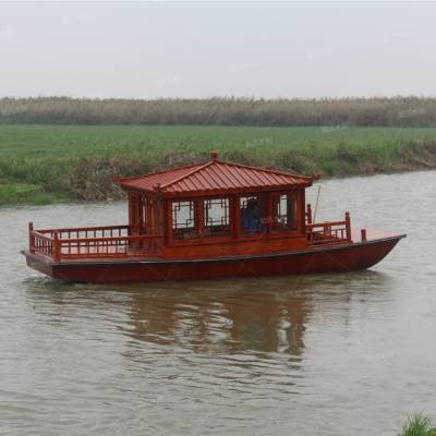 广东河源厂家直销6米电动观光木船