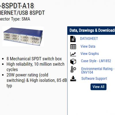 minicircuits RC-8SPDT-A18