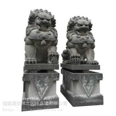 镇宅石雕狮子如何断代 本地石材湖北欧式石雕狮子