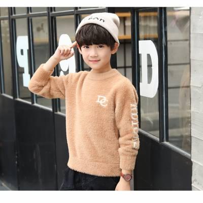 2019年秋冬儿童毛衣新款韩版女童套头毛线衣包芯纱卡通毛衣潮