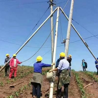 铝合金三脚架立杆机电力8-15米10米人字三角架手摇水泥杆立杆机