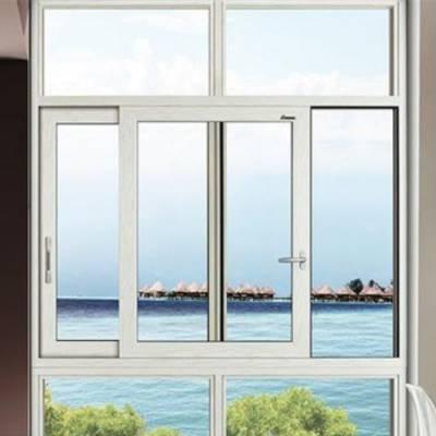 阳台三轨平开门定制 磁控三轨平开门施工 皇景门窗