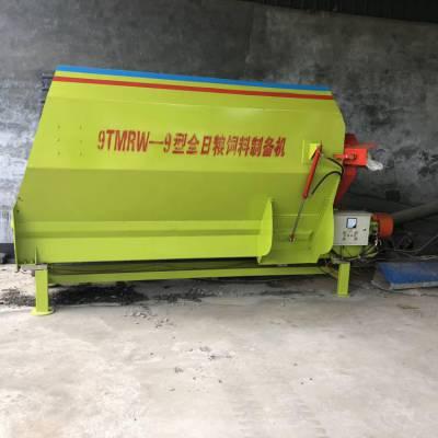 大容量草料搅拌机 TMR粉碎称重混料机 牵引式全日粮搅拌机结构