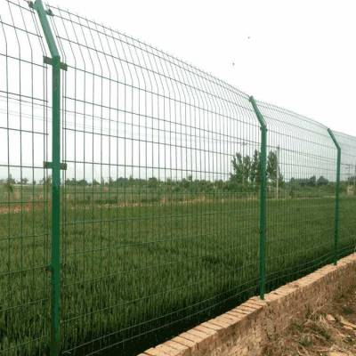 低价供应DH213浸塑低碳钢丝双边丝护栏 公路护栏网网 隔离网