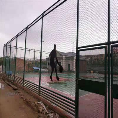 云南学校足球场隔离铁丝网室内体育馆防护网绿色球场勾花护栏网