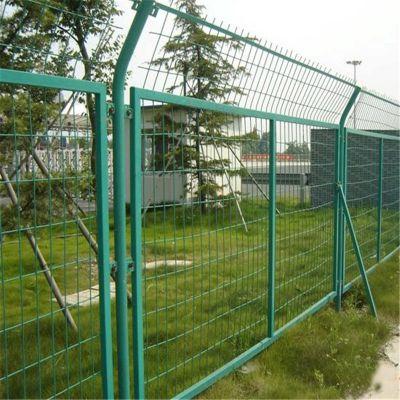 钢丝安全防护网 酒店围墙网 铁丝围网