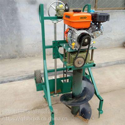 拖拉机后牵引打洞机 水泥柱子打眼挖坑机 慧聪机械钻眼机价格
