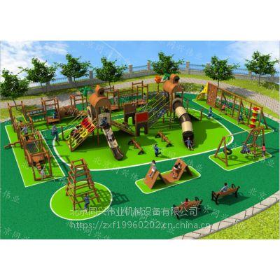 户外亲子乐园规划,无动力儿童乐园,景区木制组合滑梯,大型攀爬拓展乐园厂家直销定制