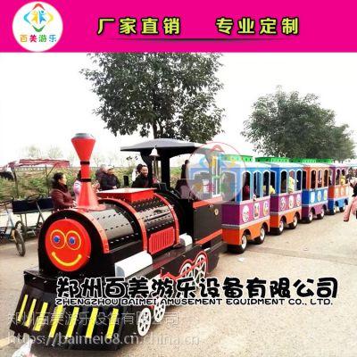 河北衡水儿童观光游览无轨道小火车,真是各大商场的知名摇钱树