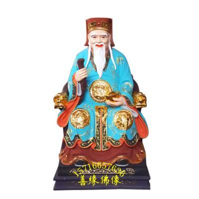 吉林树脂贴金土地婆神像塑造厂家 家里如何供奉土地公神像 寺庙佛像摆件
