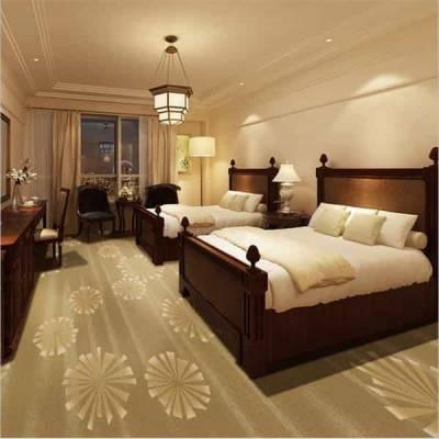 阿勒泰市办公宾馆酒店地毯批发 高毛纯色带暗花地毯宾馆地毯丙纶