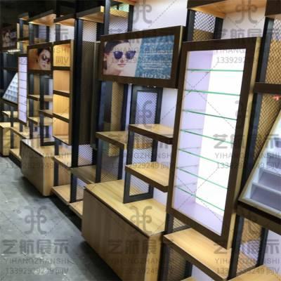 海南眼镜店展示柜台不锈钢包边