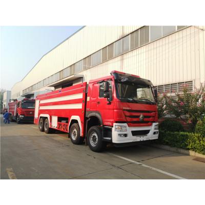 重汽豪沃25吨水罐消防车性能参数介绍