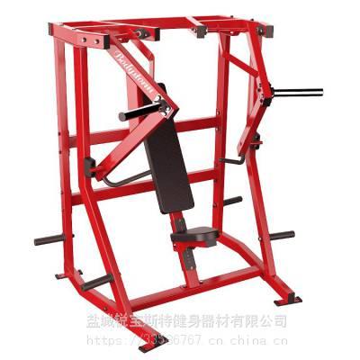 下斜推胸悍马挂片力量商用健身器械