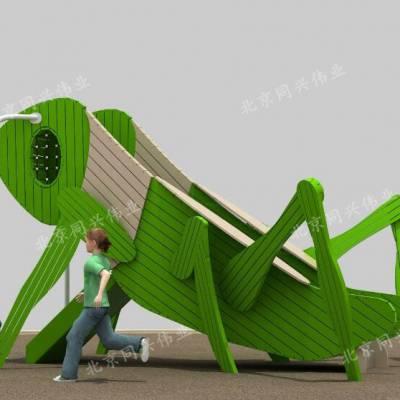 原生态拓展攀爬 木质组合滑梯 户外景区游乐设施 幼儿园户外玩具设计 北京同兴伟业直销定制