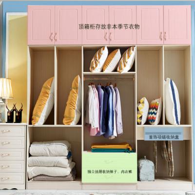 一赫现代简约板式衣柜 组合整体衣柜 推拉门衣橱 卧室衣帽间定制