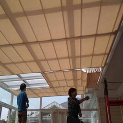 延庆订做阳光房遮阳帘采光顶电动遮阳 天幕帘阳光房室内电动天棚帘厂家