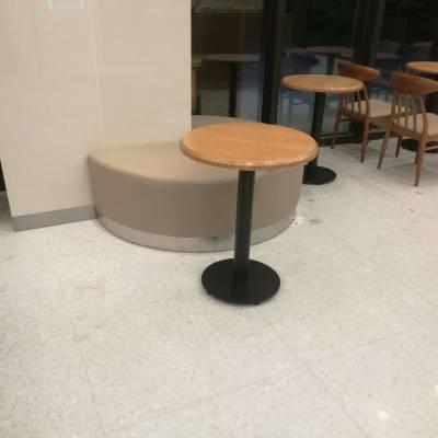 奶茶饮品店小圆桌定做,实木圆桌款式,休闲餐厅洽谈桌椅