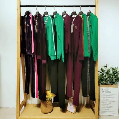 2020年简洁干练 运动套装春款 卡丽娅 品牌折扣女装库存商品批发