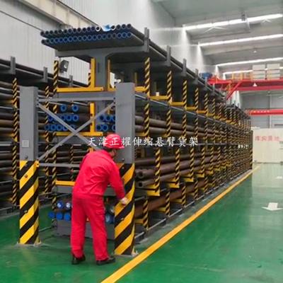 江苏重型悬臂式货架价格表说明 伸缩式悬臂货架结构特点 钢材存放架