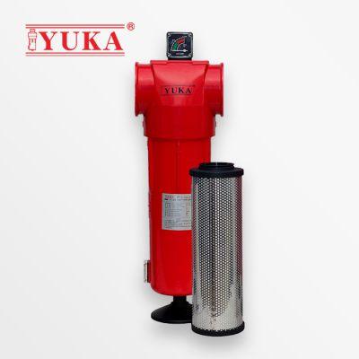 YUKA宏日嘉压缩空气精密过滤器YF120压缩空气除油除尘除杂质