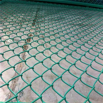 pvc包塑勾花网 球场专用勾花网 镀锌铁丝活络网
