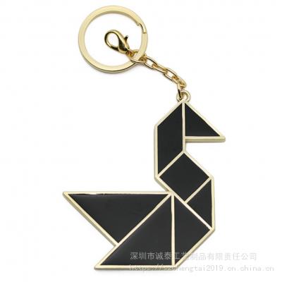 创意七巧板钥匙扣,包包挂饰钥匙链,北京金属动物钥匙圈