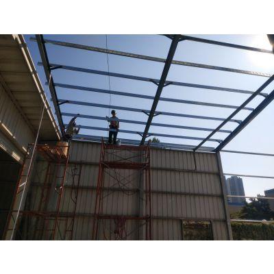 茶山钢架铁皮棚工程加工