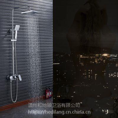和地狼莲蓬头淋浴花洒套装全铜冷热水龙头卫生间淋雨喷头套装沐浴顶喷
