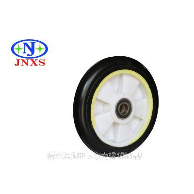 京南橡塑 厂家直销 6寸高弹力橡胶塑芯单轮