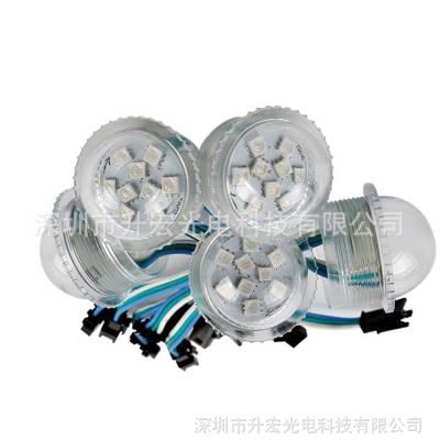 LED全彩像素游艺6灯 WS2811点光源 UCS1903透明像素防水点光源