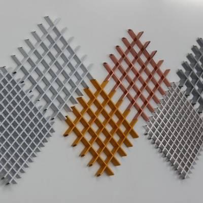墙面铝格栅-挂壁铝方通-墙壁铝天花