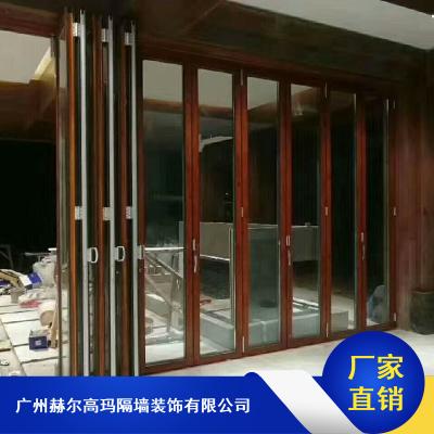 美观大方的推拉玻璃折叠门_赫尔高玛自动玻璃折叠门厂家生产