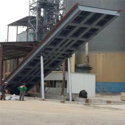 集装箱卸货平台 后翻式卸车机 100吨液压卸车平台