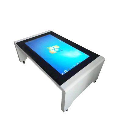 SHJ-CJ-C43D 定制新款43寸55寸多功能智能触摸桌触控茶几 展示台/桌厂家