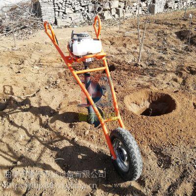 植树种树栽树挖坑机 大棚立柱挖坑机山东鲁宏