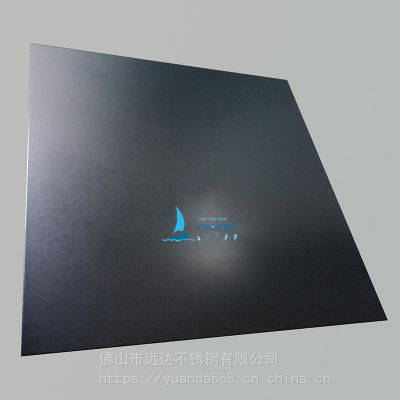304彩色不锈钢板 高端定制高比喷砂钢琴黑钛装饰板