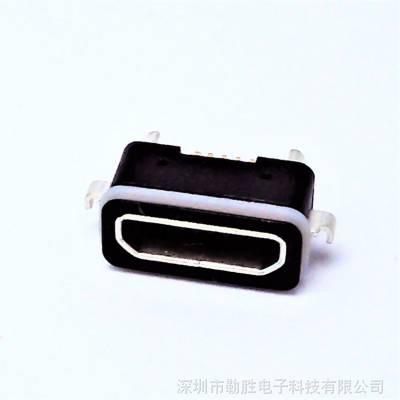 防水母座2.0 MICRO沉板2.1MM 带防水胶圈 防水等级IP66原装批发